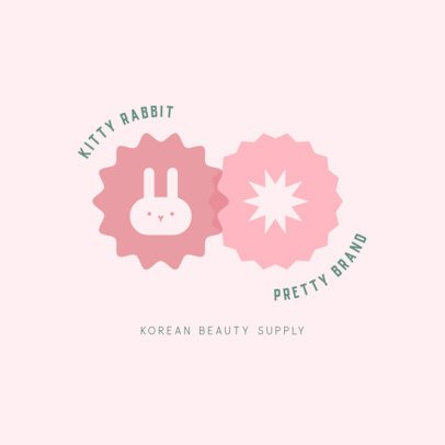 Online Logo Maker for Dropshipping Skincare Brands Featuring a Bunny Icon 3726c