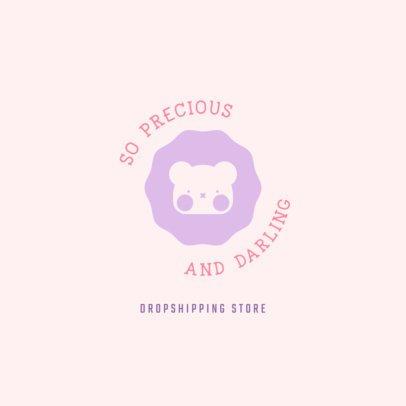 Beauty Brand Logo Template Featuring a Cute Bear Graphic 3726d