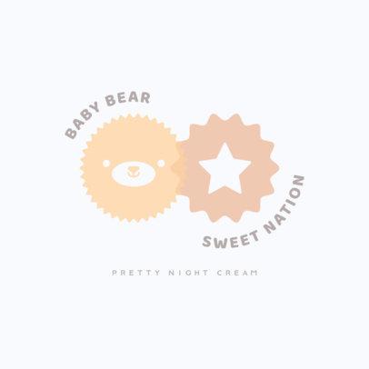 Korean Brand Logo Generator for Baby Creams 3726h