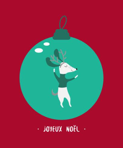 Christmas T-Shirt Design Generator Featuring a Dancing Dog Illustration 3031b-el1