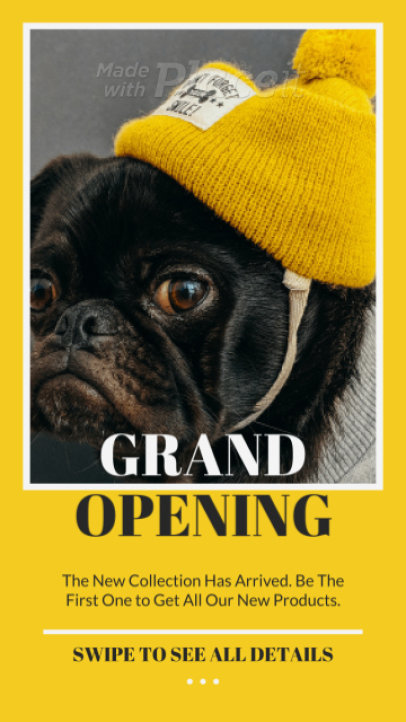 Instagram Story Generator for a Store's Opening Sale 2351-el1