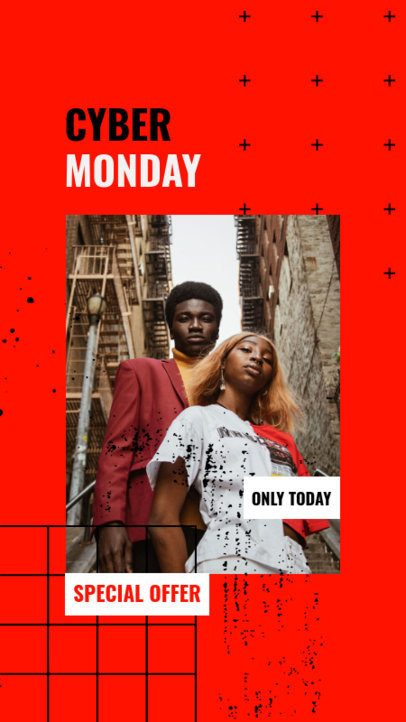 Instagram Story Maker with a Cool Abstract Style for a Super Cyber Monday Offer 3027c-el1