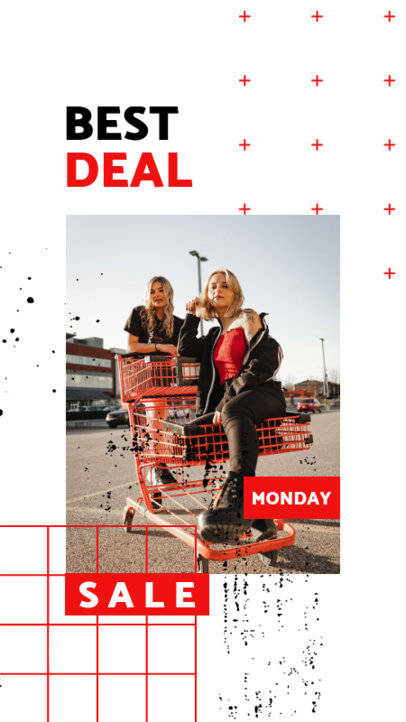Instagram Story Maker Featuring a Customizable Grid for Cyber Monday Deals 3027e-el1