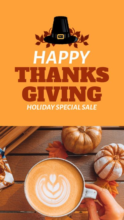 Instagram Story Design Generator for Thanksgiving Day Sales 3039