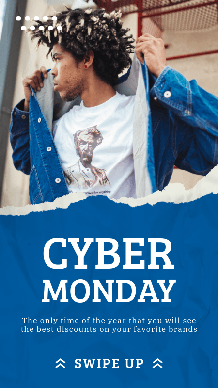 Instagram Story Generator for Fashion Cyber Monday Deals 3025e-el1