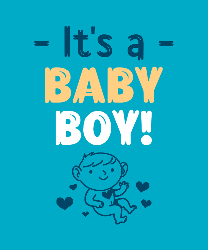 It's a Boy T-Shirt Design Maker with a Charming Graphic 3038b