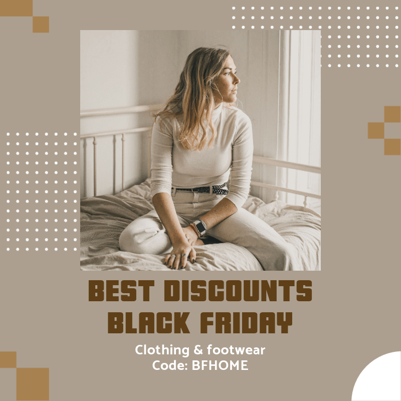 Black Friday-Themed Instagram Post Maker for a Clothing and Footwear Sale 3030g
