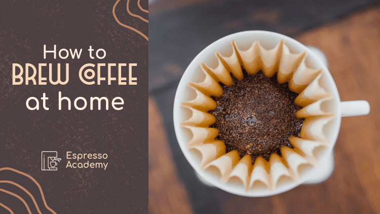 YouTube Thumbnail Design Template for a Coffee Brewing Tutorial 3034h