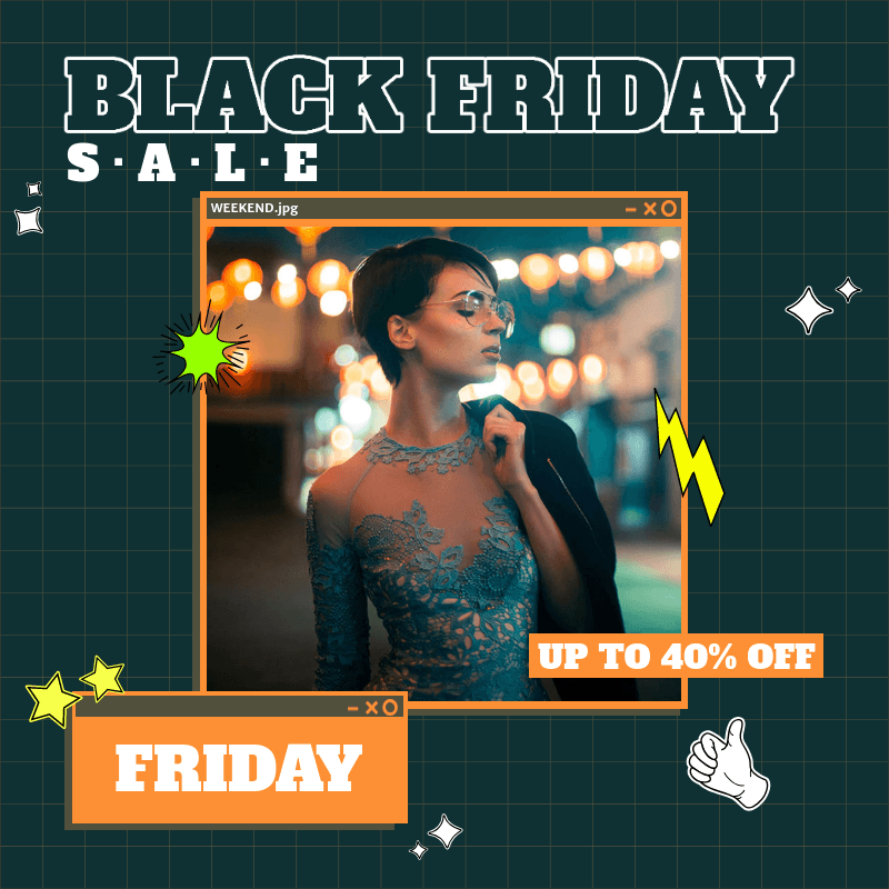 Trendy Instagram Post Template for a Black Friday Sale Ad 3029h
