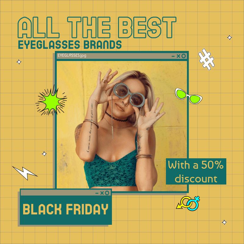 Instagram Post Generator for a Sunglasses Brand Black Friday Sale 3029j