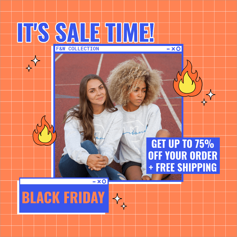 Instagram Post Creator for a Cool Black Friday Ad 3029i