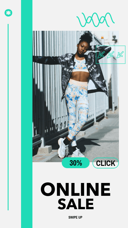 Minimalist Instagram Story Template for a Fashion Brand Sale 3015a-el1