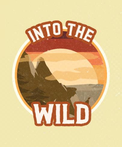 Adventurous T-Shirt Design Generator with a Vintage Landscape Illustration 3044i