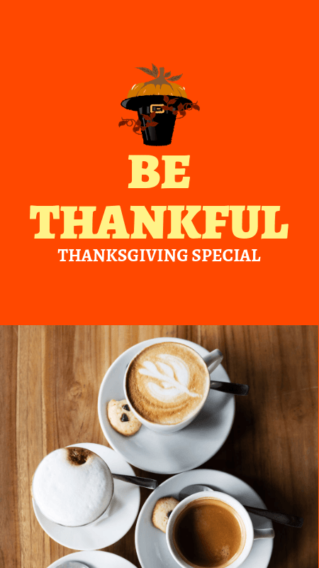 Instagram Story Maker for a Thanksgiving Special Promo 3039a