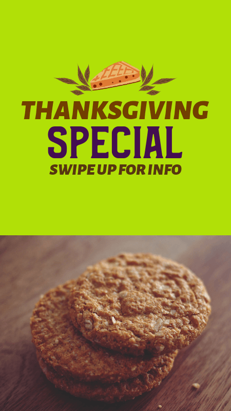 Instagram Story Creator to Promote a Thanksgiving Special Treat 3039c