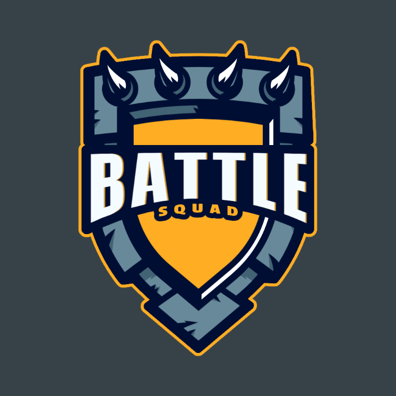 Logo Maker for a Gaming Squad with a Shield-Shaped Graphic 3757b