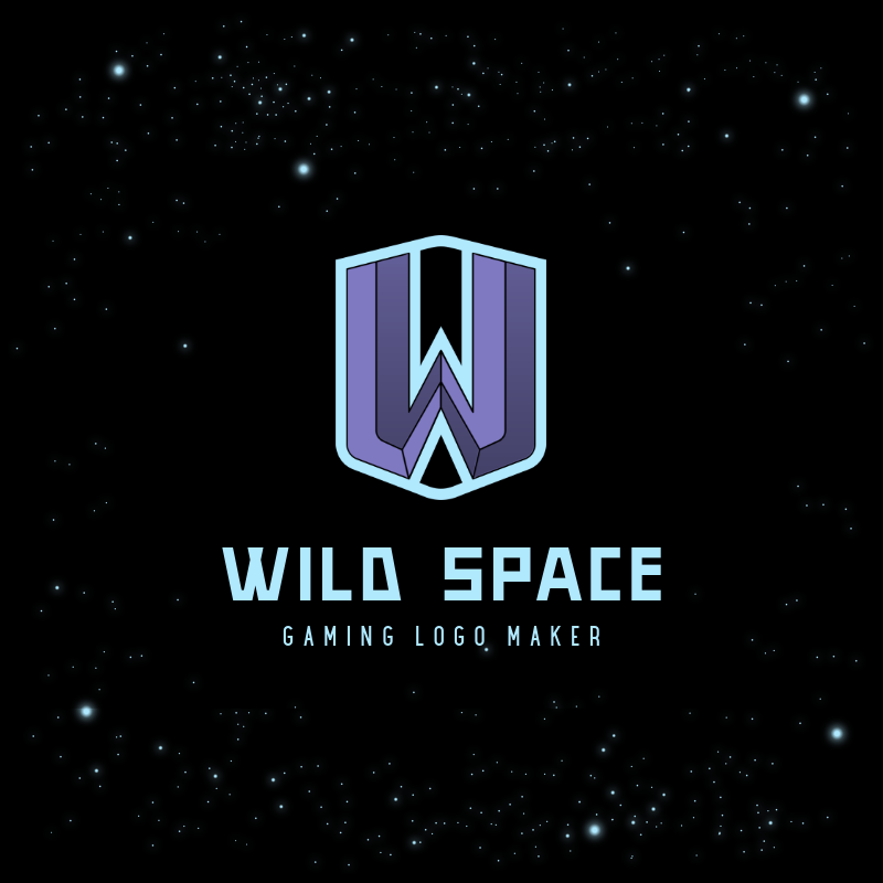 Gaming Logo Creator with a Letter Icon and a Space Background 3751f