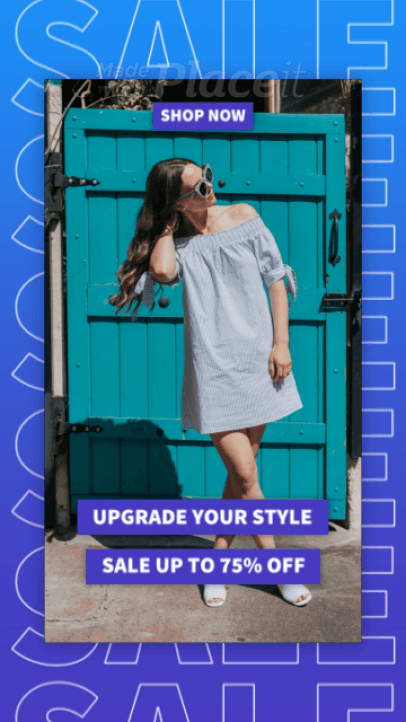 Stylish Instagram Story Video Creator to Announce a Sale 2365-el1