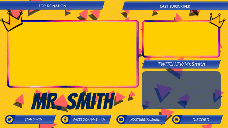 Twitch Overlay Generator for a Gaming Channel with Multiple Livecams 2989c