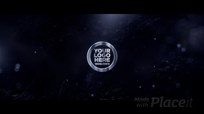Intro Maker with a Fiery Animation of a 3D Logo Reveal 2384-el1