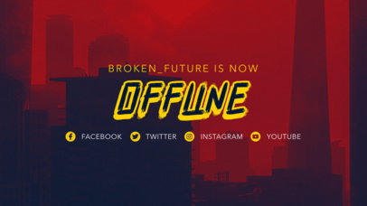 Twitch Offline Banner Maker for Gaming Channels with a Cyberpunk 2077-Inspired Aesthetic 3060