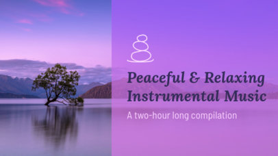 YouTube Thumbnail Design Template for a Peaceful and Relaxing Music Channel 3064d