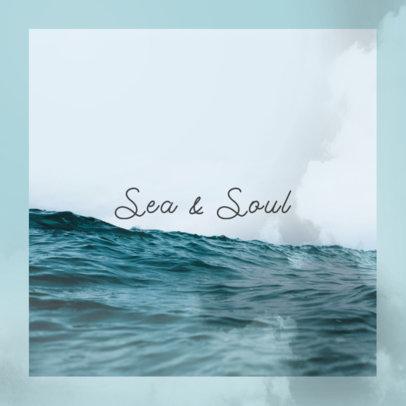Minimal Album Art Design Maker for a Peaceful and Relaxing Music Album 3061h