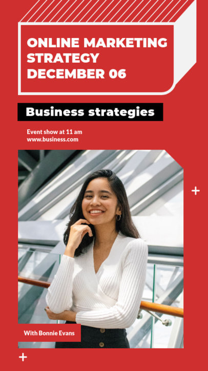 Instagram Story Template for a Business and Marketing Talk 3060e-el1