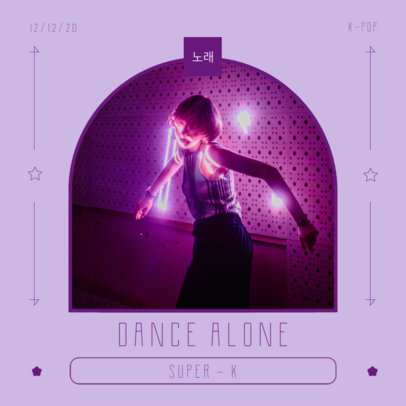 Album Cover Design Template for K-Pop Artists 3074b-el1