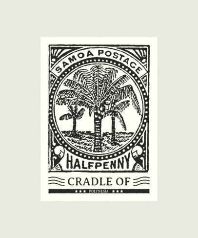 T-Shirt Design Maker Featuring Stamps with Vintage Illustrations 3090-el1
