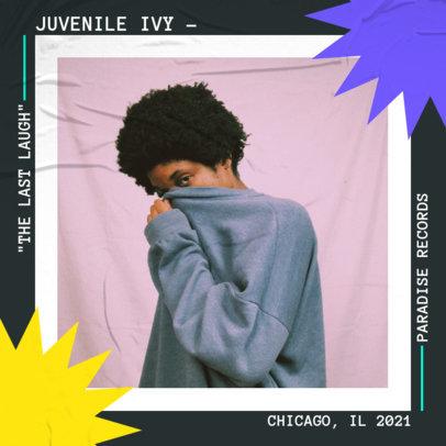 Trendy Album Cover Maker for an Independent Hip-Hop Artist 3886a-el1