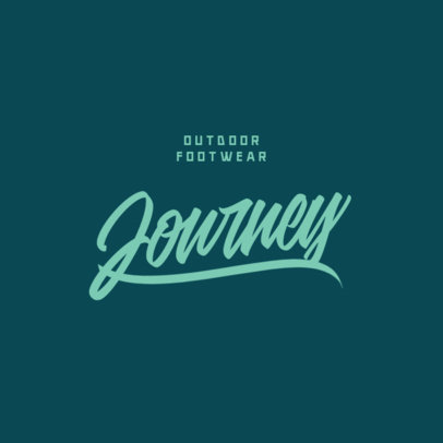 Typography Logo Template with Solid Lines for a Footwear Brand 3762a