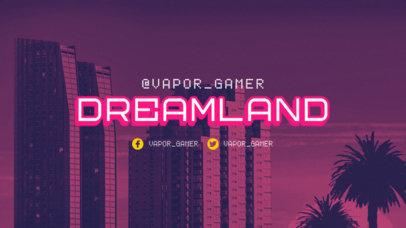 Twitch Offline Banner Creator with a Cyberpunk 2077-Style Background Scenario 3060a