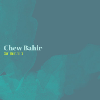 Chill-Out Album Cover Template Featuring a Minimalist Design 3062d