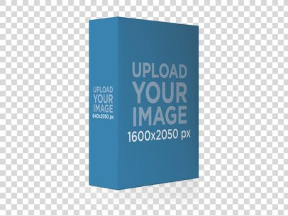 Software Box Standing Over a Transparent Backdrop Mockup a8141