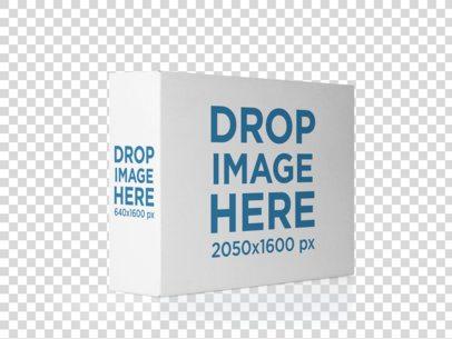Horizontal Software Box Lying Over a Transparent Backdrop Mockup 14541