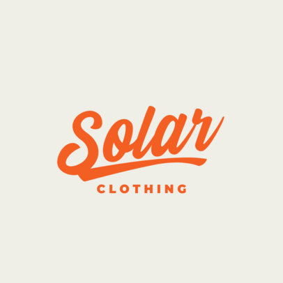 Clothing Brand Logo Generator with Handwritten Typeface 3762l