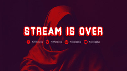 Twitch Offline Banner Creator for a Gaming Channel with Cyberpunk 2077-Style Typography 3060h