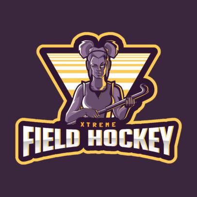 Logo Maker for a Field Hockey Women's Team 1560i-2601