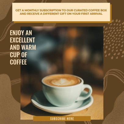 Instagram Post Creator for a Coffee House's Customer Loyalty Program Ad 3065b
