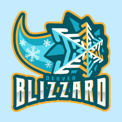 Hockey Logo Maker with a Comet-Like Snowflake Graphic 1560m-2930
