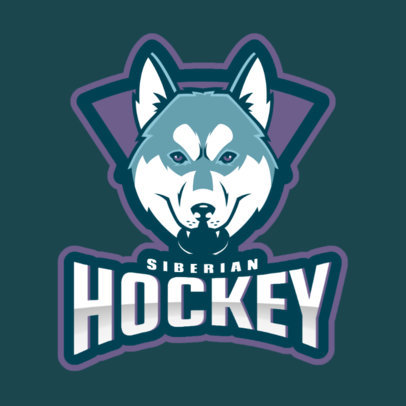 Hockey Logo Generator Featuring a Siberian Husky Illustration 1560n-2937
