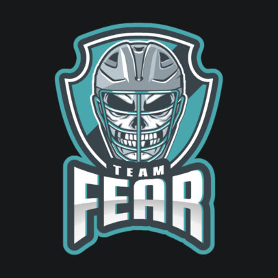 Gaming Logo Creator with a Deadly Hockey Player 1560p-2937