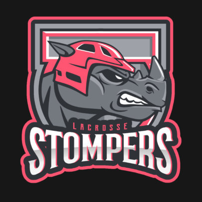 Logo Maker for a Hockey Team Featuring an Aggressive Rhino Graphic 1560q-2936