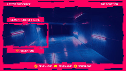 Cyberpunk 2077-Style Twitch Overlay Generator with a Webcam Frame 3059d