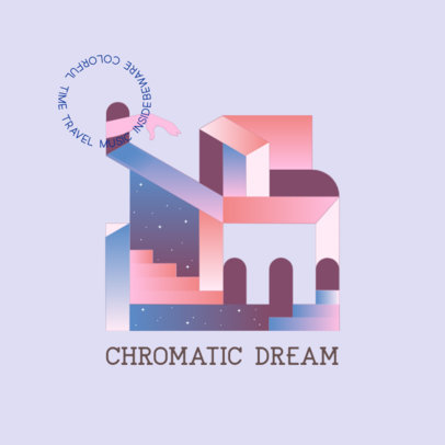Logo Maker Featuring a Dream-Like Geometric Landscape 3766f