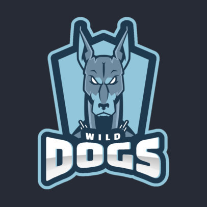 Sports Logo Generator Featuring an Aggressive-Looking Dog 1560r-2964