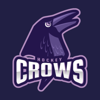 Hockey Team Logo Maker Featuring a Crow 1560s-2964