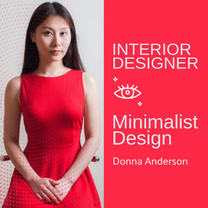 Instagram Post Generator for an Interior Designer's Online Curriculum 3068j