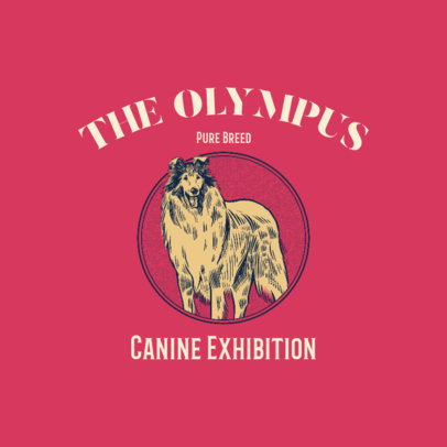 Illustrated Logo Maker for a Canine Exhibition 3776e
